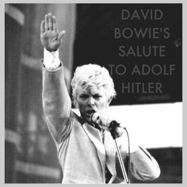 Risultati immagini per david bowie nazi salute